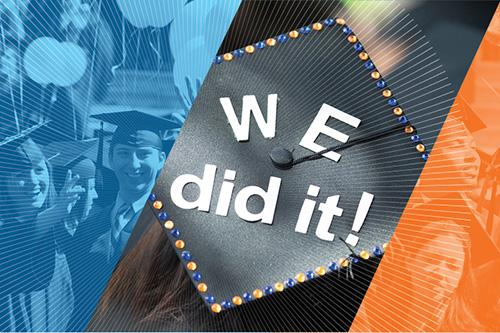 """We did it"" graduation collage"